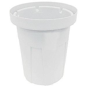 "Tough Guy 50 gal. Round Open Top Utility Food-Grade Waste Container, 34-1/2""H, White"