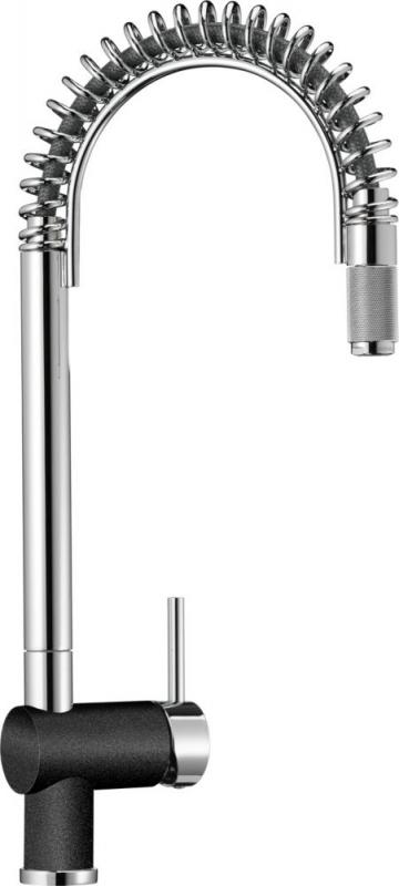 Blanco Semi-Pro Faucet, Chrome/Anthracite