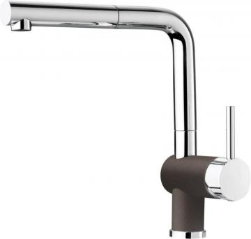 Blanco Single-Lever Pull-Out Faucet, Café/Chrome