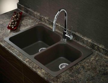 Blanco Silgranit, Natural Granite Composite Topmount Kitchen Sink, Café