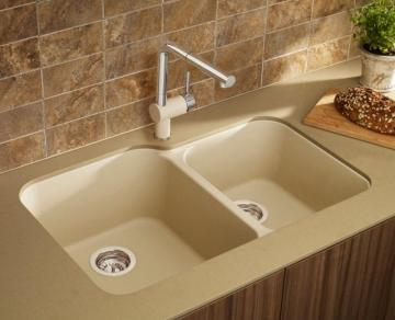 Blanco Silgranit, Natural Granite Composite Undermount Kitchen Sink, Biscotti