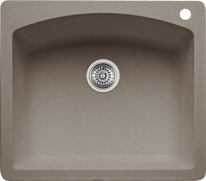 Blanco Silgranit, Natural Granite Composite Topmount Kitchen Sink, Truffle