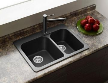 Blanco Silgranit, Natural Granite Composite Topmount Kitchen Sink, Anthracite