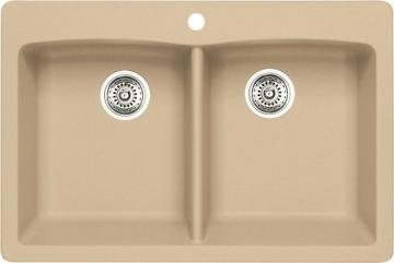Blanco Silgranit, Natural Granite Composite Topmount Kitchen Sink, Biscotti
