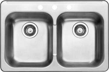Blanco 8 In. Double Bowl Stainless Steel Sink