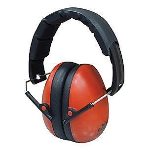 Condor 21dB Folding Ear Muffs, Red