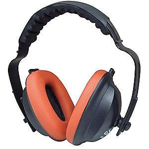 Condor 21dB Over-the-Head Ear Muffs, Black, Red