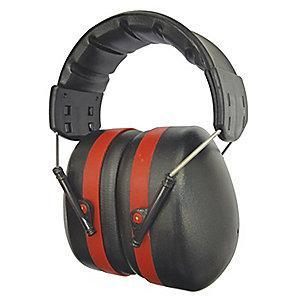 Condor 24dB Over-the-Head Ear Muffs, Red
