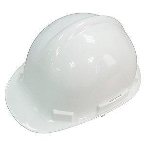 Condor Front Brim Hard Hat, 4 pt. Ratchet Suspension, White, Hat Size: 6-1/2 to 8
