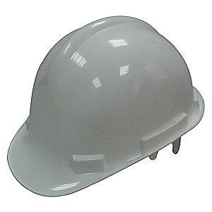 Condor Front Brim Hard Hat, 4 pt. Pinlock Suspension, White, Hat Size: 6-1/2 to 8