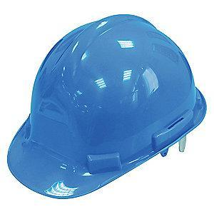 Condor Front Brim Hard Hat, 4 pt. Pinlock Suspension, Blue, Hat Size: 6-1/2 to 8