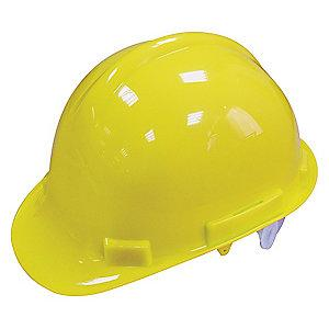 Condor Front Brim Hard Hat, 4 pt. Pinlock Suspension, Hi-Visibility Yellow, Hat Size: 6 to 7-1/8