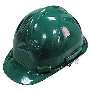 Condor Front Brim Hard Hat, 4 pt. Pinlock Suspension, Green, Hat Size: 6-1/2 to 8