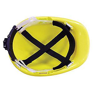 Condor Front Brim Hard Hat, 4 pt. Ratchet Suspension, Hi-Visibility Yellow, Hat Size: 6-1/2 to 8