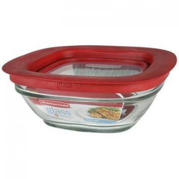Rubbermaid Food Storage Container, Glass, 2.5-Cup Square