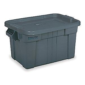 "Rubbermaid Storage Tote, Gray, 15-1/8""H x 27-7/8""L x 17-4/5""W, 1EA"