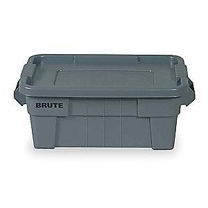 "Rubbermaid Storage Tote, Gray, 10-3/4""H x 27-7/8""L x 16-1/2""W, 1EA"