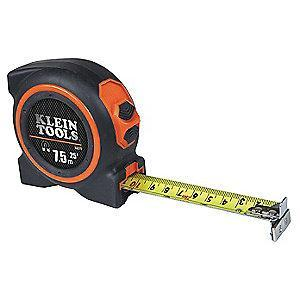 Klein 7.5m Steel SAE/Metric Long Tape Measure, Black/Orange