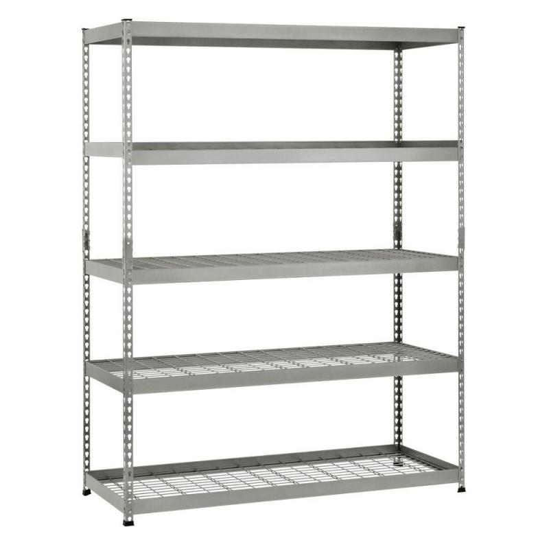 "Husky 5-Shelf 60"". W X 78"". H X 24"". D Silver Steel Storage Shelving Unit"