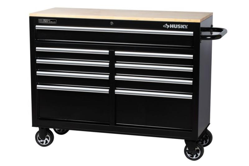 "Husky 46"" W 9-Drawer Mobile Workbench"