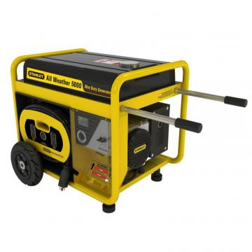 Stanley 5000 Watt All Weather Generator with Removeable Control Panel and 24hr Run Time