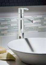 American Standard Perth Monoblock Bathroom Faucet in Satin Nickel Finish