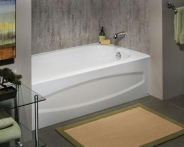 American Standard Cadet 5 Feet Enamel Steel Bathtub with Right-Hand Outlet in White