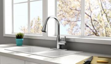 American Standard Fairbury Single Handle Pull Down Sprayer Kitchen Faucet - Stainless Steel