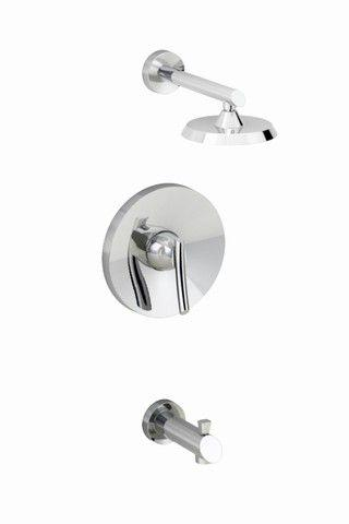 "American Standard Green Tea Bath/Shower Faucet with 6 3/4"" Rain Showerhead in Polished Chrome"