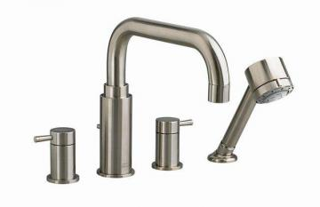 American Standard Serin Deck-Mount Bath Faucet with Personal Shower and Brass Spout