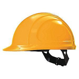 Honeywell Front Brim Hard Hat, 4 pt. Pinlock Suspension, Hi-Visibility Orange