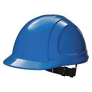 Honeywell Front Brim Hard Hat, 4 pt. Pinlock Suspension, Sky Blue
