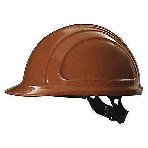 Honeywell Front Brim Hard Hat, 4 pt. Pinlock Suspension, Brown