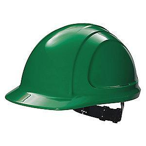 Honeywell Front Brim Hard Hat, 4 pt. Pinlock Suspension, Green