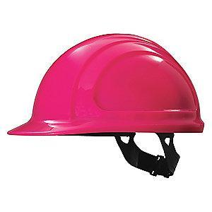 Honeywell Front Brim Hard Hat, 4 pt. Pinlock Suspension, Hot Pink