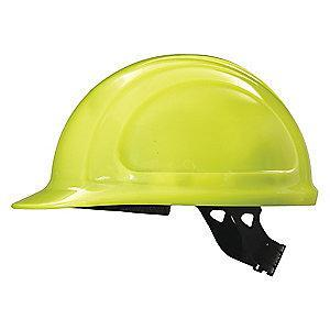 Honeywell Front Brim Hard Hat, 4 pt. Pinlock Suspension, Hi-Visibility Yellow