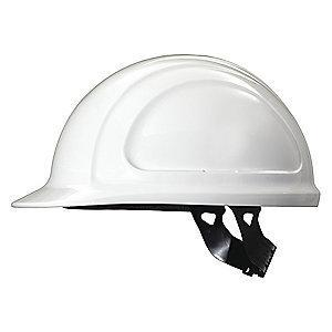 Honeywell Front Brim Hard Hat, 4 pt. Pinlock Suspension, White, Hat Size: 6-3/4 to 7-3/8