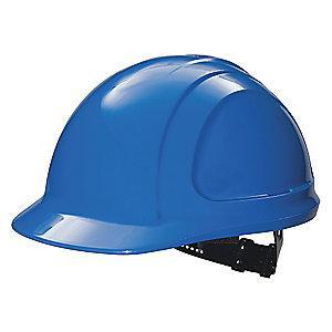 Honeywell Front Brim Hard Hat, 4 pt. Pinlock Suspension, Royal Blue