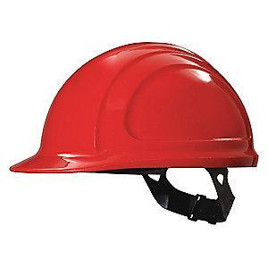 Honeywell Front Brim Hard Hat, 4 pt. Pinlock Suspension, Red