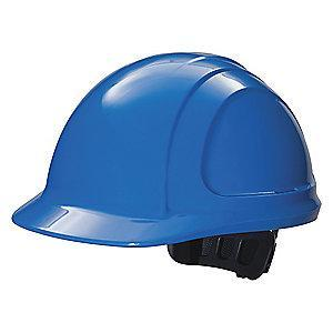 Honeywell Front Brim Hard Hat, 4 pt. Ratchet Suspension, Royal Blue, Hat Size: 6-1/2 to 8
