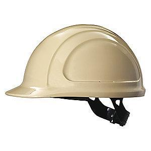 Honeywell Front Brim Hard Hat, 4 pt. Pinlock Suspension, Tan