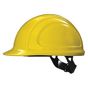 Honeywell Front Brim Hard Hat, 4 pt. Pinlock Suspension, Yellow, Hat Size: 6-3/4 to 7-3/8