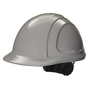 Honeywell Front Brim Hard Hat, 4 pt. Ratchet Suspension, Gray, Hat Size: 6-5/8 to 7-3/4