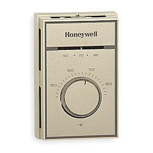 Honeywell Line Volt Mechanical Tstat for Heating and Cooling, 120 to 277VAC