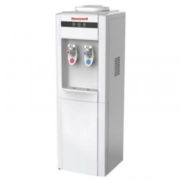 "Honeywell 39"" Top Load Freestanding Water Cooler Dispenser, Hot And Cold Temp, White"