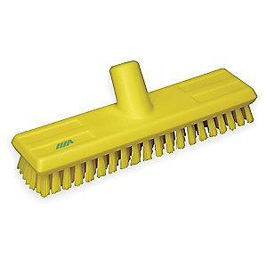 "Vikan 10-3/4"" Polyester Replacement Brush Head Scrub Brush, Yellow"