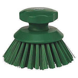 "Vikan 5"" Polyester Short Handle Scrub Brush, Green"