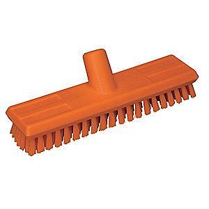 "Vikan 10-3/4"" Polyester Replacement Brush Head Scrub Brush, Orange"