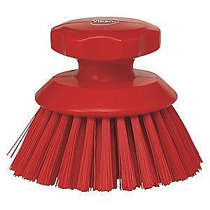 "Vikan 5"" Polyester Short Handle Scrub Brush, Red"