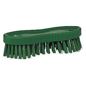 "Vikan 7"" Polyester Block Scrub Brush, Green"